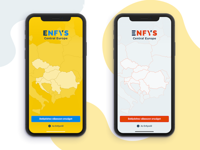 Enfys Restaurant Guide App color shemes unique map europe ui app ios restaurant