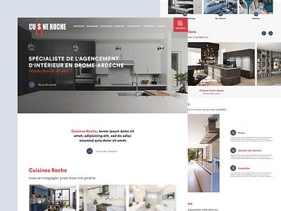 Kitchen designer homepage kitchen website homepage clean design minimal white webdesign ux ui