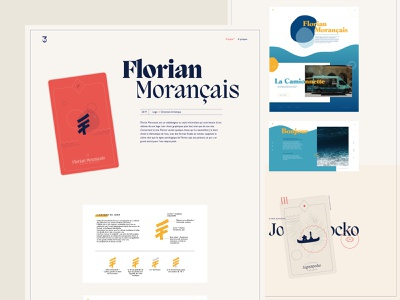 Marine Durand portfolio - Project detail motion typogaphy layout tarot card cards ux design ui design art direction portfolio website clean design minimal webdesign ux ui
