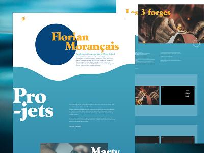 Personal portfolio - 2020 blue water ux design ui design typography design typography portfolio motion art direction website clean design minimal webdesign ux ui