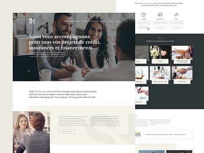 SH typography layout art direction website clean design minimal webdesign ux ui