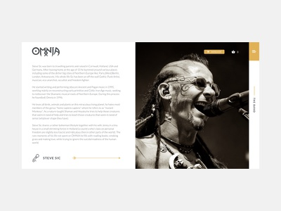 Omnia redesign -  Band page music band nature ux ui webdesign