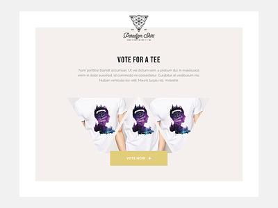 Tee shirt vote website triangle webdesign website tee shirt vote clothing