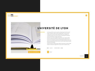 Portfolio detail formation book yellow webdesign ux ui detail portfolio