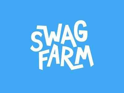 Swag Farm hand lettering sharpie vector logo challenge farm swag