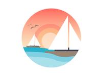 Summer Sunset Sailing