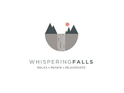 Whispering Falls Logo Concept shapes geometric illustration logo vector waterfall