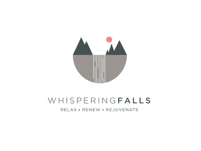 Whispering Falls Logo Concept shapes geometric illustration logo vector waterfall