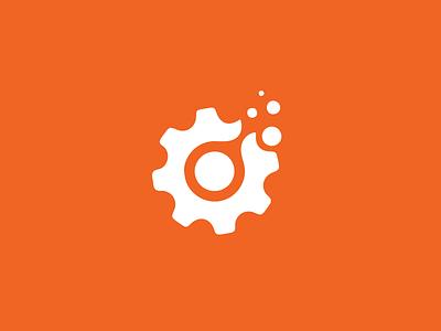 Inland Northwest Metallurgical Services Logo logomark flat illustration metal gear vector logo