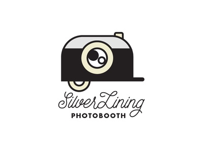Silver Lining Photobooth photobooth trailer photography vector branding logo