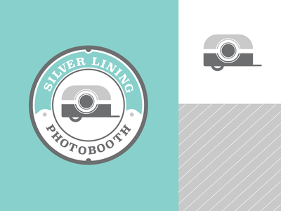 Silver Lining Photobooth Branding photobooth trailer photography vector branding logo