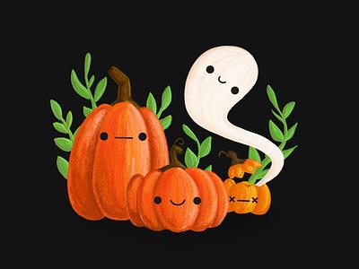Just a couple of pumpkins! procreateapp procreate ghost pumpkin halloween design vector illustration