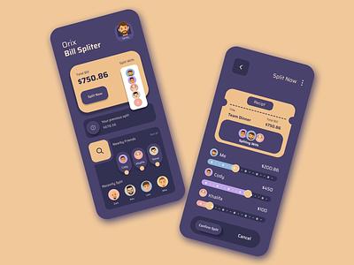 The Bill Splitter icon vector logo ux ui typography illustration design branding app