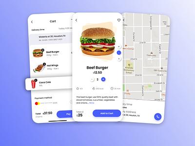 The Food Ordering App ui ux icon vector logo typography illustration design branding app animation