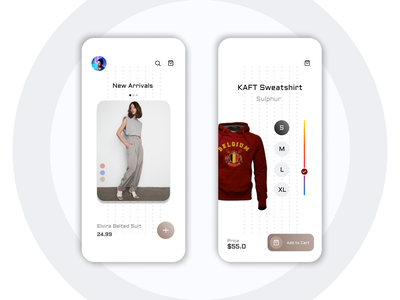 The Shopping App icon vector logo typography illustration design branding app ui ux
