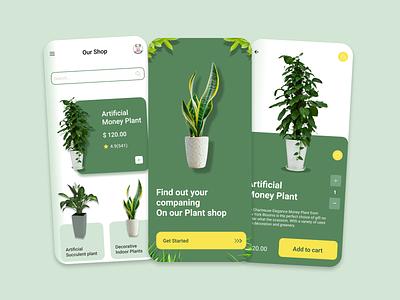 The Artificial Plants App icon vector logo typography illustration design branding app ui ux