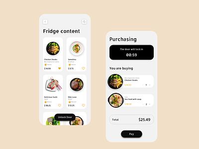 Food Ordering App icon vector logo typography illustration design branding app ui ux