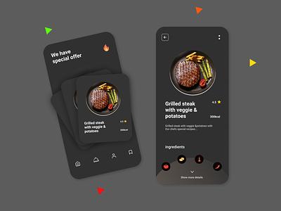 The Food Ordering App icon vector logo typography illustration design branding app ui ux