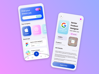 Job Finder App icon vector logo typography illustration design branding app ui ux