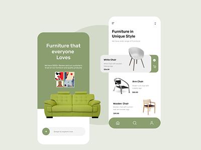 The Furniture App icon vector logo typography illustration design branding app ui ux