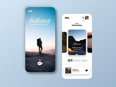 Hiking.. icon vector logo typography illustration design branding app ui ux