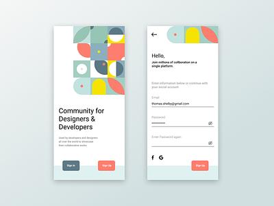 Designer's App icon vector logo typography illustration design branding app ui ux