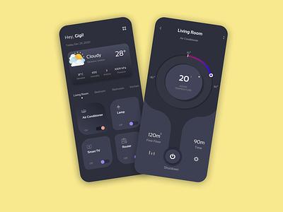 Smart Home App icon vector logo typography illustration design branding app ui ux