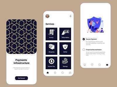 Financial App icon vector logo typography illustration design branding app ui ux