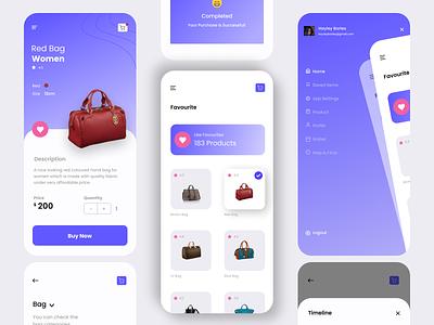Shopping App icon vector logo typography illustration design branding app ui ux
