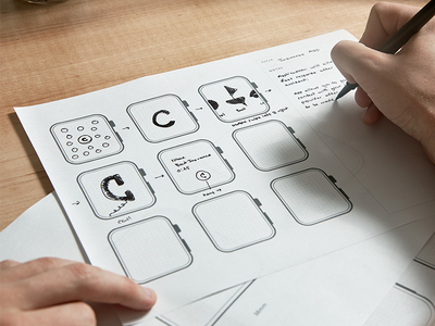 Now with Apple Watch! sketching printable prototypes print design community knowledge learning assets sidecar ui prototypes apple watch