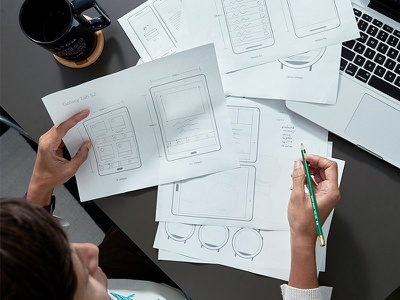 Printable UI Prototypes android wire framing wireframing strategy planning sketching sketch paper prototypes ui