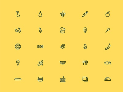 65 Foodie Icons