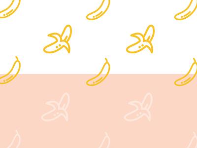 Nanas bananas banana stroked sidecar work line set icon icons iconography branding