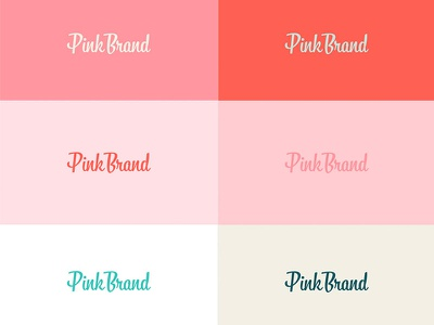 Pink on Pink on Pink color block style guide sidecar madebysidecar assets branding brand typography type pink