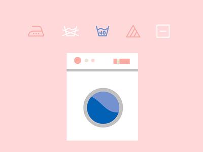 Laundry Time madebysidecar asset sidecar flat pink iconography icon icons laundry