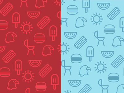 Freedom and Fries forth of july icons 4th
