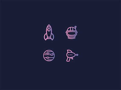Need Space. vector gradient madebysidecar sidecar asset icon icons space