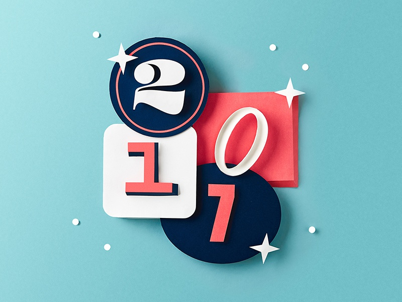 New Year, New Blog paper craft lettering typography paper 2018 2017