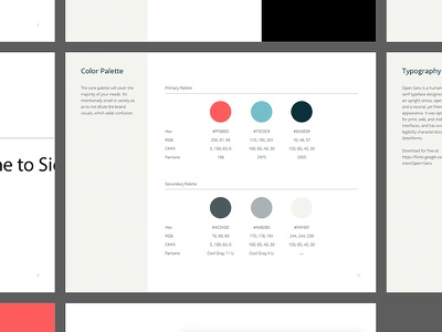 The Digital Style Guidelines blue color palette color palette brand madebysidecar assets guidelines brand guidelines template style guide template style guide