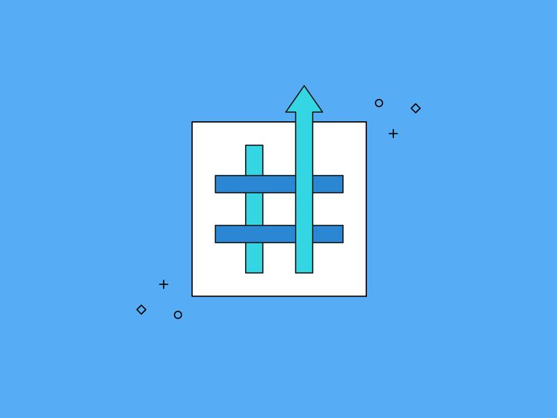 #️⃣ ✨ minimal illustration social media social sparkle popular trending twitter hashtag
