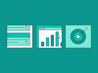 📧 🏷️ data calendar tagging tag post social media social minimal flat software product email illustration illustration