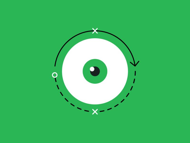 👀 📈 strategic flat eye visual strategy