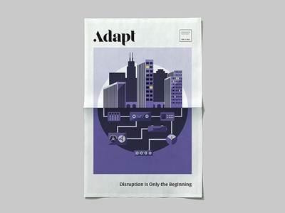 📰 🏙️ publication layout newspaper editorial cityscape city illustration