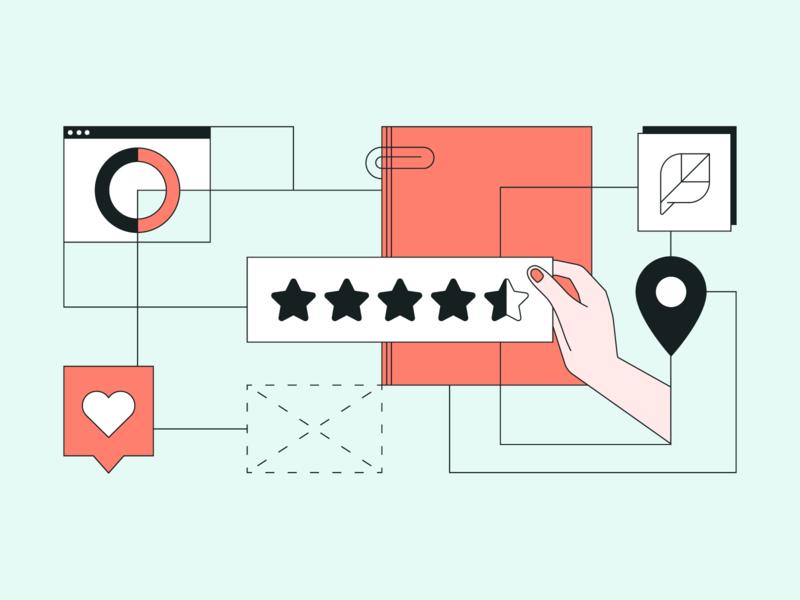 ⭐ 💻 platform software socialmedia social minimal line art star reviews review illustration