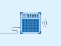 🔊🎶 loud music minimal illustration amplify sound amp