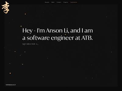 Landing Page - Personal Portfolio animation webdesign portfolio design portfolio portfolio website portfolio site three.js threejs