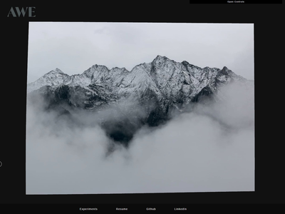 WebGL Dissolve Effect - AWE Experiments web design images image manipulation animation webgl web development