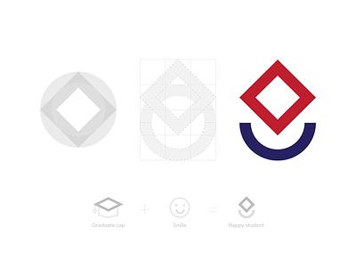 E Learning Logo geometry shape simple modern mark logo identity icon design branding