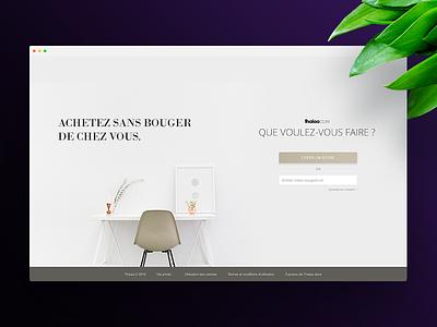 Thalaa store landing page flat layout minimal ecommerce website web modern clean webdesign store