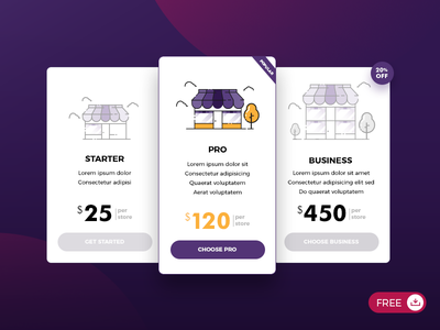 Pricing page [ psd, ai ] freebies web design website free graphic app illustration table price store ui pricing